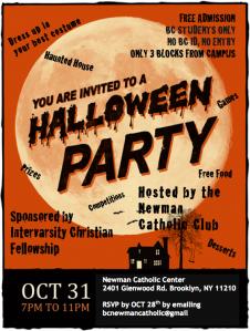 Halloween party Flier