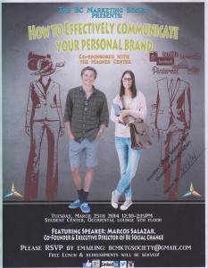 Personal Branding Flyer 3-25-14